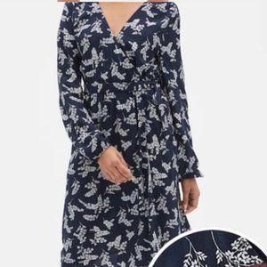 Gap Factory Floral Print Faux Wrap dress